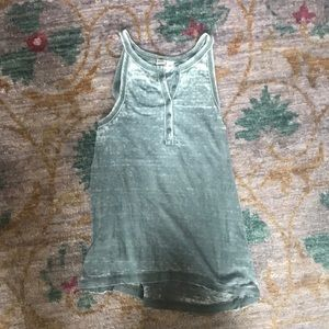 NWOT distressed gray tank top